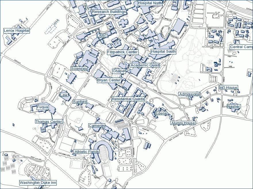Duke University Campus Map Risk, Uncertainty, and Decision 2009 The Fuqua School of Business